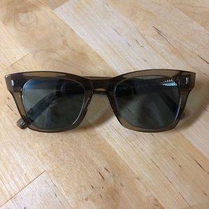 Warby Parker Harris Sunglasses in Crystal Smoke